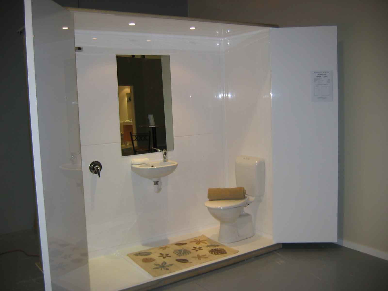 Modular bathrooms and toilets for sale flat packs for Restroom tub